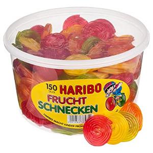 3- Haribo Frucht- und Cola-Schnecken 1200g für 150 Stück