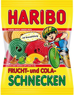 Haribo Frucht- und Cola-Schnecken 175g
