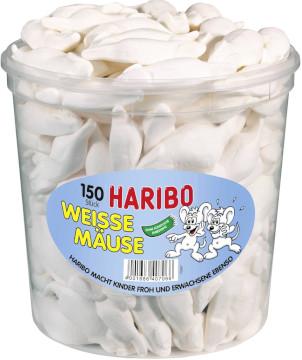 Haribo Weisse Mäuse 1050g für 15 Stück