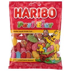 Haribo Perl-Eier Mischung aus Gelee-Halbeiern mit Zuckerperlen 200g