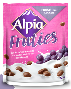 Alpia Rosinen in Alpenmilchschokolade 225g
