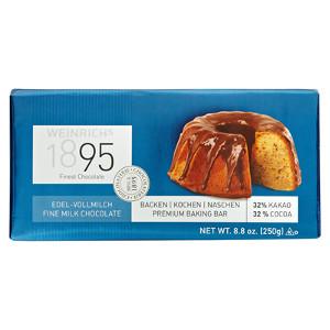Weinrich Edel Vollmilchschokolade Kuvertüre 33% Kakao 250g