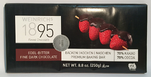 Weinrich Edel Bitterschokolade Kuvertüre 70% Kakao (250g)