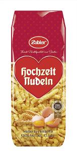 1- Zabler Hochzeits Nudeln Hubertus Knöpfle 500g