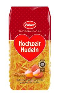 1- Zabler Hochzeits Nudeln Hubertus Spätzle geschabt 500g