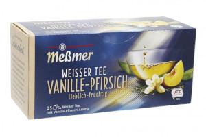 Meßmer Weißer Tee Vanille-Pfirsich Lieblich-fruchtig 35g