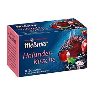 Messmer Holunder-Kirsche 55g für 20 Beutel x 2,75g