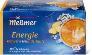 Messmer Energie Ingwer-Holunderblüte 40g für 20er x 2g