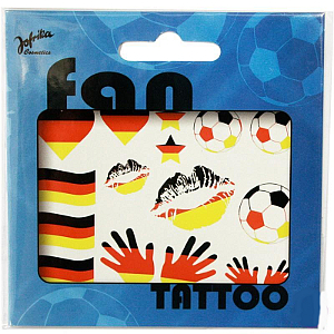 Fan Tattoo Germany Schwarz/rot/Gold