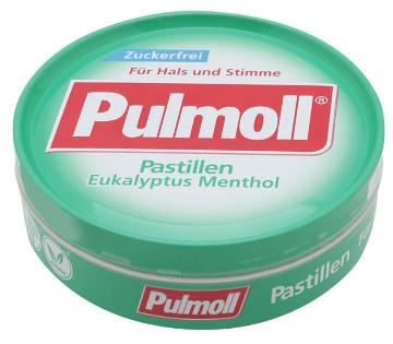 Pulmoll Pastillen Eukalyptus Menthol Zuckerfrei 50g