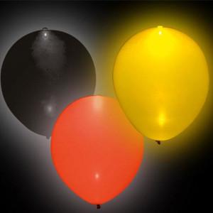1- 8 Luftballons schwarz rot Gold  Ø ca. 30cm