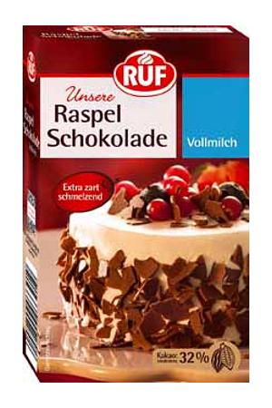 Ruf Raspelschokolade Vollmilch 100g