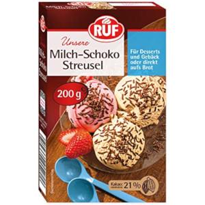 Ruf Milch-Schokoladen Streusel 200g