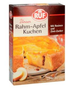 Ruf Rahm Apfel Kuchen mit Rosinen und Zimt Zucker 435g