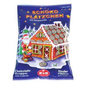 E+G Schokoladen Plätzchen mit Nonpareille 150g