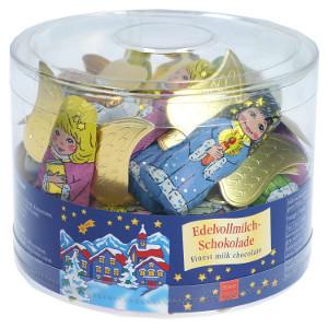 6- Storz Weihnachtsengel Edelvollmilch Schokolade 5er x 10g