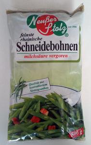 Neußer Stolz feinste rheinische Schneidebohnen-Milchs. vergoren 500g