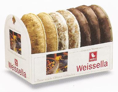 Weiss Weissella 3-fach glasiert, schokoladenüberzogen/naturell 200