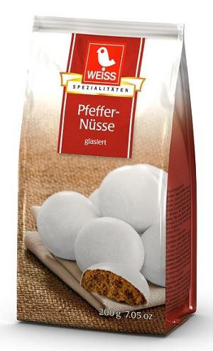 Weiss Pfeffernüsse glasiert 200g