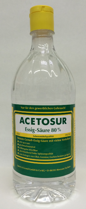 Acetosur Essig-Säure 80% säure 1000g