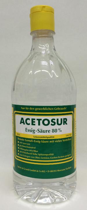 AcetosurEssig-Säure 80%