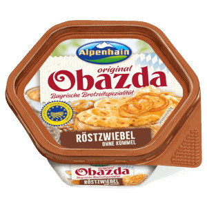 1- Alpenhain Original Obazda Röstzwiebel Ohne Kümmel 125g