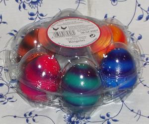 6 Bunte Eier gekocht & gefärbt