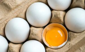 10 frische Eier Weiß aus Bodenhaltung für Oster