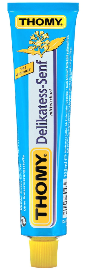 1- Thomy Delikatess-Senf mittelscharf 200ml