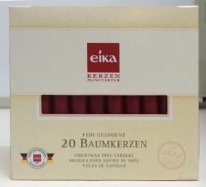 Eika Baumkerzen Bordeaux für 20er-pack