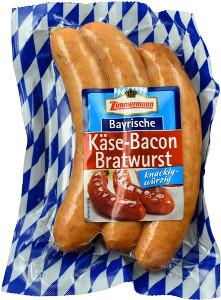 Zimmermann Bayrische Käse-Bacon Bratwurst (Knackig-würzig) 240g