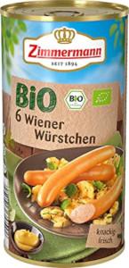 Zimmermann BIO Wiener Würstchen 250g