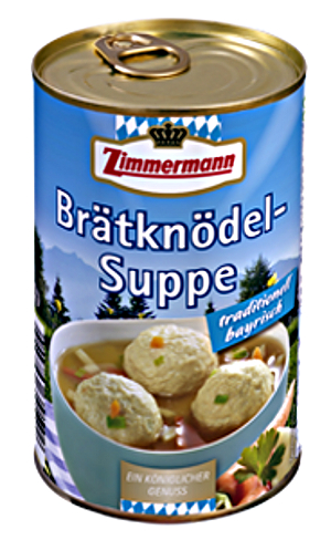 Zimmermann Brätknödel-Suppe Traditionell Bayrisch 400ml