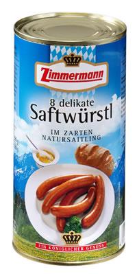 Zimmermann 8 Delikate Saftwürstl 250g