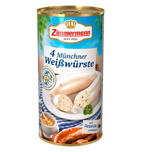Zimmermann 4 Münchner Weisswürste 250g