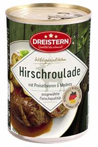 Dreistern Hirschroulade in Pikanter Rotweinsauce 400g
