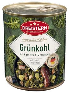 Dreistern Grünkohl mit Kasseler und 4 Mettenden 800g