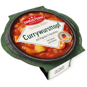 2- Dreistern Currywurst mit Paprika & Kartoffeln 400g
