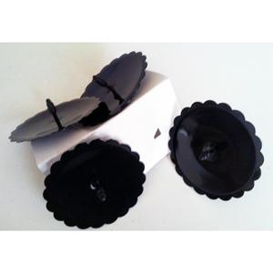 Metal Kerzenhalter Rund schwarz ca. 6cm für 4 Stück