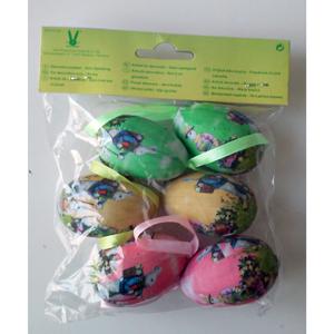 Eier aus Styropor / Papier 6 Stk.