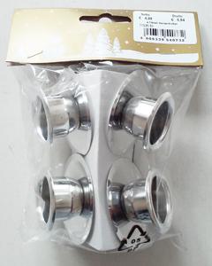 Geromr 4 Metall-Kerzenhalter silber
