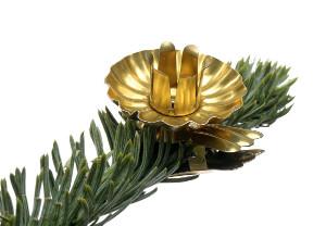 Metal Baumkerzenhalter Gold 10 Stück