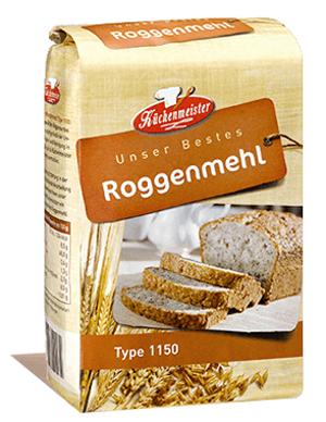 Küchenmeister Type 1150 Roggenmehl 1000g