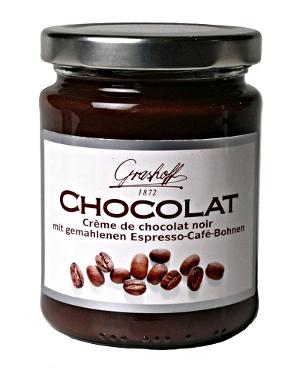 Grashoff: Crème de Chocolat noir mit expresso-Café-Bohnen  (250g)