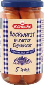 Könecke Bockwurst in zarter Eigenhaut 380g für  5 Stück