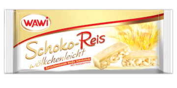 Wawi Schoko-Reis Wölkchenleicht Weisse Schokolade 200g