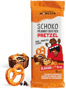 Little Peanut Monster Schoko Peanut Butter Pretzel Classic 105g