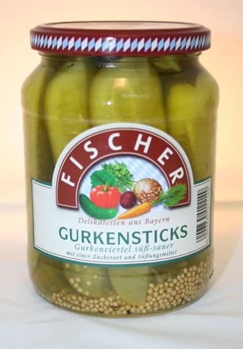 Fischer Gurkensticks 670g/360g