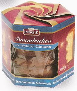 2- Lambertz Baumkuchen, Edel-Vollmich-Schokolade 300g