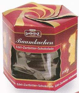 2- Lambertz Baumkuchen, Edel-Zartbitter-Schokolade 300g